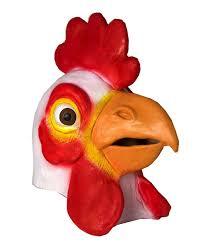 latex masks halloween chicken latex halloween mask accessory walmart com