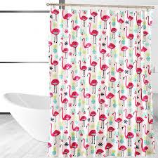 Flamingo Shower Curtains Affluence Home Fashions Fancy Flamingo Shower Curtain Reviews