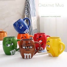 gift mugs with candy m m s chocolate candy mugs cups large capacity ceramics
