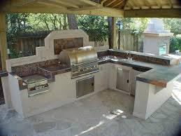 l shaped outdoor kitchen dimensions concrete flooring raw