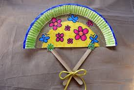 how to make a fan how to make a paper plate fan thriftyfun