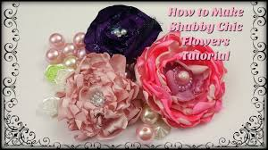 how to make easy shabby chic fabric flowers embellishments youtube