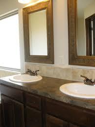 bathroom cabinets original framed bathroom mirrors wooden framed