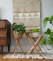 wood plant stand wicker plant stand planter vintage plant