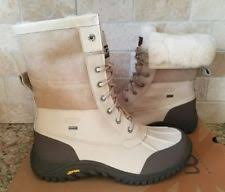womens fur boots size 9 ugg australia adirondack ii white leather fur boots womens size 9