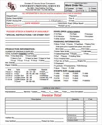 example of work order form sample work order 10 documents in