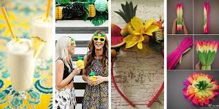 Luau Party Table Decorations Sweet 16 Party Ideas Party Ideas From Birthdayinabox Com
