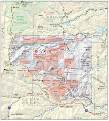 Colorado County Map by Gilpin County Colorado Geological Survey