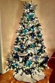 Blue And Silver Christmas Tree - farrah u0027s blue white and silver christmas tree so pretty may
