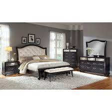 Hollywood Loft Bed Set Marilyn Queen Bed Ebony American Signature Furniture