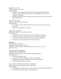 sle resume for business analysts duties of executor of trust tibco resume search results