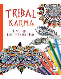 creative coloring tribal karma beaver books publishing
