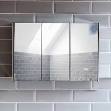 triple mirror bathroom cabinet bathroom cabinet double triple door wall mounted mirror storage