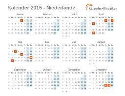 Kalendar 2018 Nederland Feiertage 2015 Niederlande Kalender übersicht