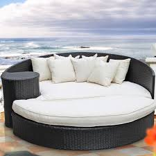 Patio Furniture Fabric Replacement by Furniture Comfortable Round Wicker Outdoor Daybed For Patio