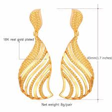 real gold earrings u7 vintage fancy dangle earing women fashion gold earrings