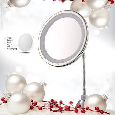amazon com lighted makeup mirror 10 u201d long gooseneck mirror w