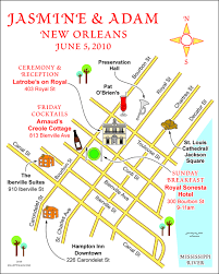 Map New Orleans Fun Wedding Maps U2014 Custom Map Design By Snappymap