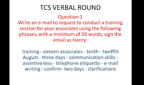 Business Email Etiquette Example tcs email writing question and answer 1 youtube