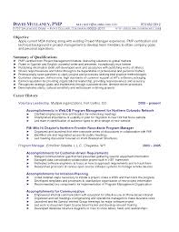 Program Manager Resumes 100 Sample Project Manager Resume Doc Financial Analyst