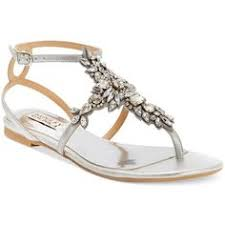 Rhinestone Flat Sandals Wedding May Wedding Jeweled Sandals For Brides Sliver Shoes For May
