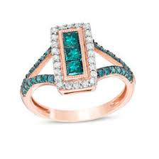 engagement rings with blue stones colored diamonds collections zales