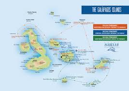 Galapagos Map Isabela Ii South America Adventure Tours
