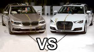 2017 bmw 5 series vs 2016 audi a6 crash test youtube