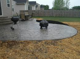 poured concrete patio ideas pouring concrete pad design