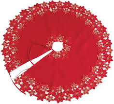 jackie poinsettia embroidered tree skirt reviews joss
