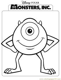 monsters coloring pages mike coloring