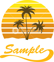 summer vector t shirt design with palm trees royalty free stock