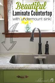 Kitchen Laminate Countertops Beautiful Laminate Countertop With Undermount Sink