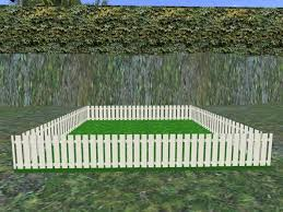 White Backyard Fence - second life marketplace bunny pen wooden fence 03 white