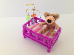pipe cleaner dollhouse furniture baby crib diy tutorial 32 kids