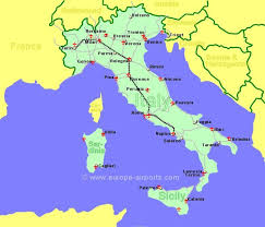 italy map airports in italy sicily and sardinia guide flights