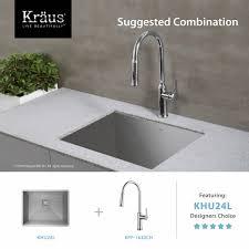 kitchen sinks undermount 24 inch sink u shaped brushed stainless