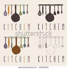Kitchen Utensils Design by Kitchen Utensils Set Vector Design Template Stock Vector 232376515