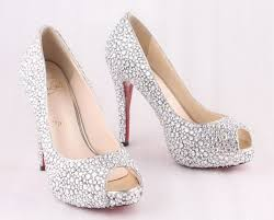 wedding shoes on sale christian louboutin glitter bridal shoes sale 1611926 top