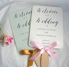 fan program wedding wedding fans rustic wedding program fan rustic fans ivory
