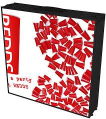 redds beer pong table redds cups
