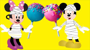 mickey mouse and minnie house halloween makeup mummy party candy