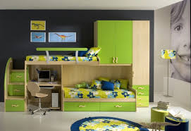 bedroom beautiful green white wood glass modern design children