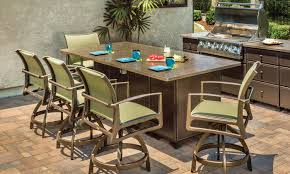 exterior pine patio furniture design with wooden patio table also