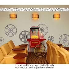 Decorative Wallpaper Borders Film Reels Movie Theater Decorative Wall Decal Border Vintage