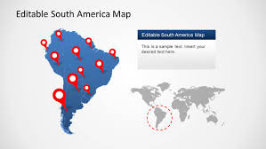 Latin And South America Map by South America Map Template For Powerpoint Slidemodel