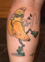 funny banana tattoo design tattoo designs tattoo pictures