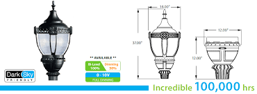 post top light fixtures led post top acorn light fixture led 94 series 80w
