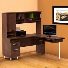 Modern L Shaped Computer Desk Furniture Stylish L Shaped Computer Desk With Hutch Featuring