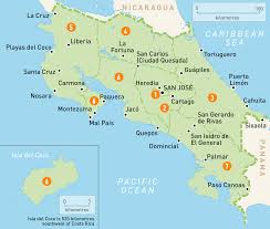 Central America And Caribbean Map by Map Of Costa Rica Costa Rica Regions Rough Guides Rough Guides